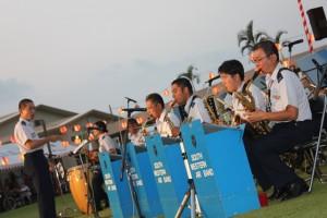 祭り自衛隊演奏